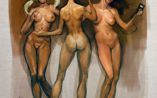 Вальдемар Казак (Waldemar Kazak) digital art, Three Graces