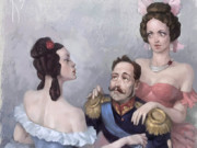 Вальдемар Казак (Waldemar Kazak) digital art, The Tsar and Girls