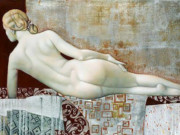 Агита Кейри (Agita Keiri), Nude on Red Blanket