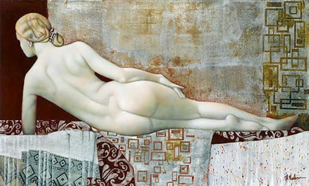 Агита Кейри (Agita Keiri), Nude on Red Blanket