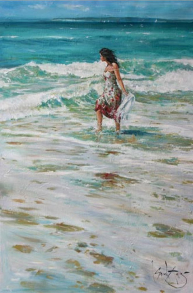 "Гордон Кинг (Gordon King), ""Running in the Surf"""