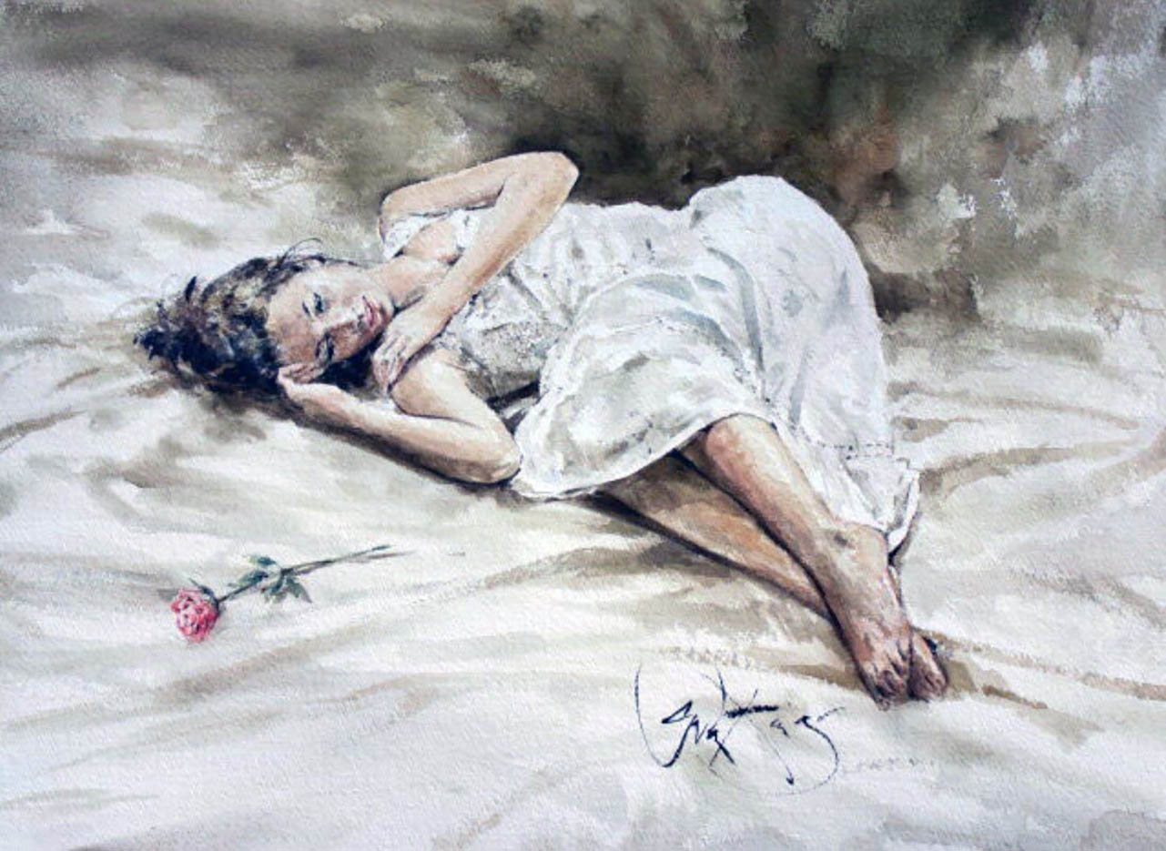 "Гордон Кинг (Gordon King), ""Resting Rose"""