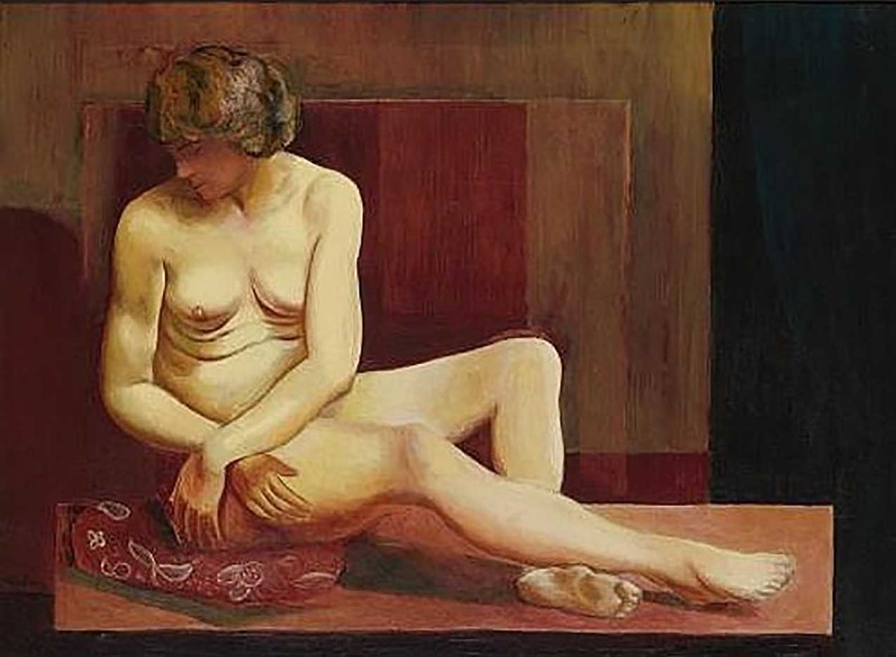 "Моисей Кислинг (Moise Kisling) ""Сидящая обнаженная | Sitting nude | Nu Assis"""