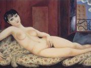 "Моисей Кислинг (Moise Kisling) ""Большая лежащая обнаженная, Кики | Large reclining nude, Kiki | Grand nu allonge, Kiki"""