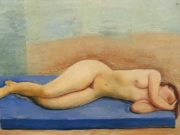 "Моисей Кислинг (Moise Kisling) ""Лежащая обнаженная - 4 | Reclining nude - 4 | Nu allonge - 4"""