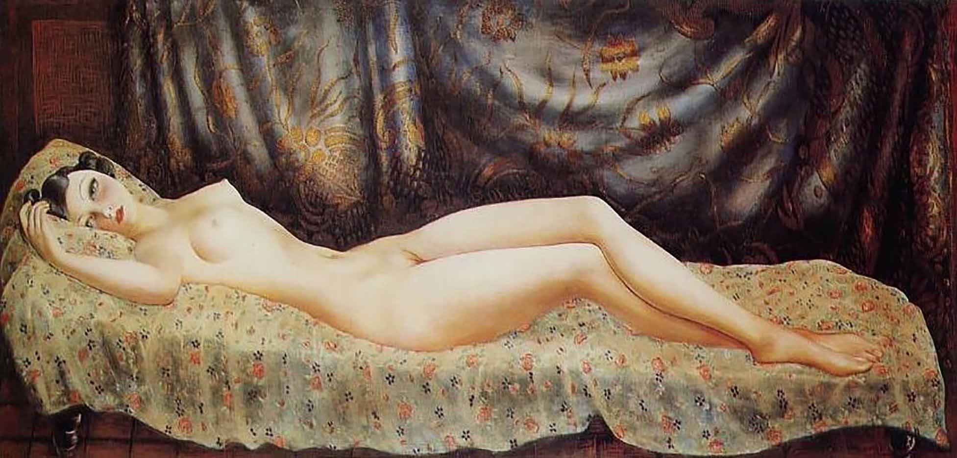 "Моисей Кислинг (Moise Kisling) ""Обнаженная. Потрет Арлетт | Nude portrait of Arletty"""