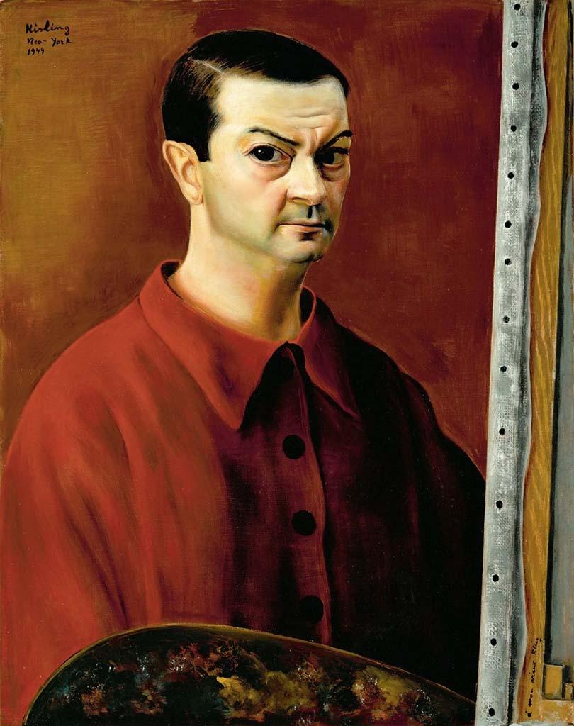 "Моисей Кислинг (Moise Kisling) ""Автопортрет | Self-portrait 1944"""