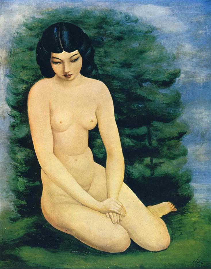 "Моисей Кислинг (Moise Kisling) ""Обнаженная с пейзажем | Nude in landscape """