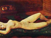 "Моисей Кислинг (Moise Kisling) ""Большая красная обнаженная | Large red nude"""