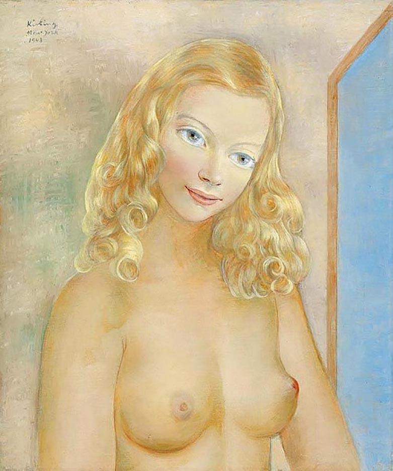"Моисей Кислинг (Moise Kisling) ""Jeune blonde"""