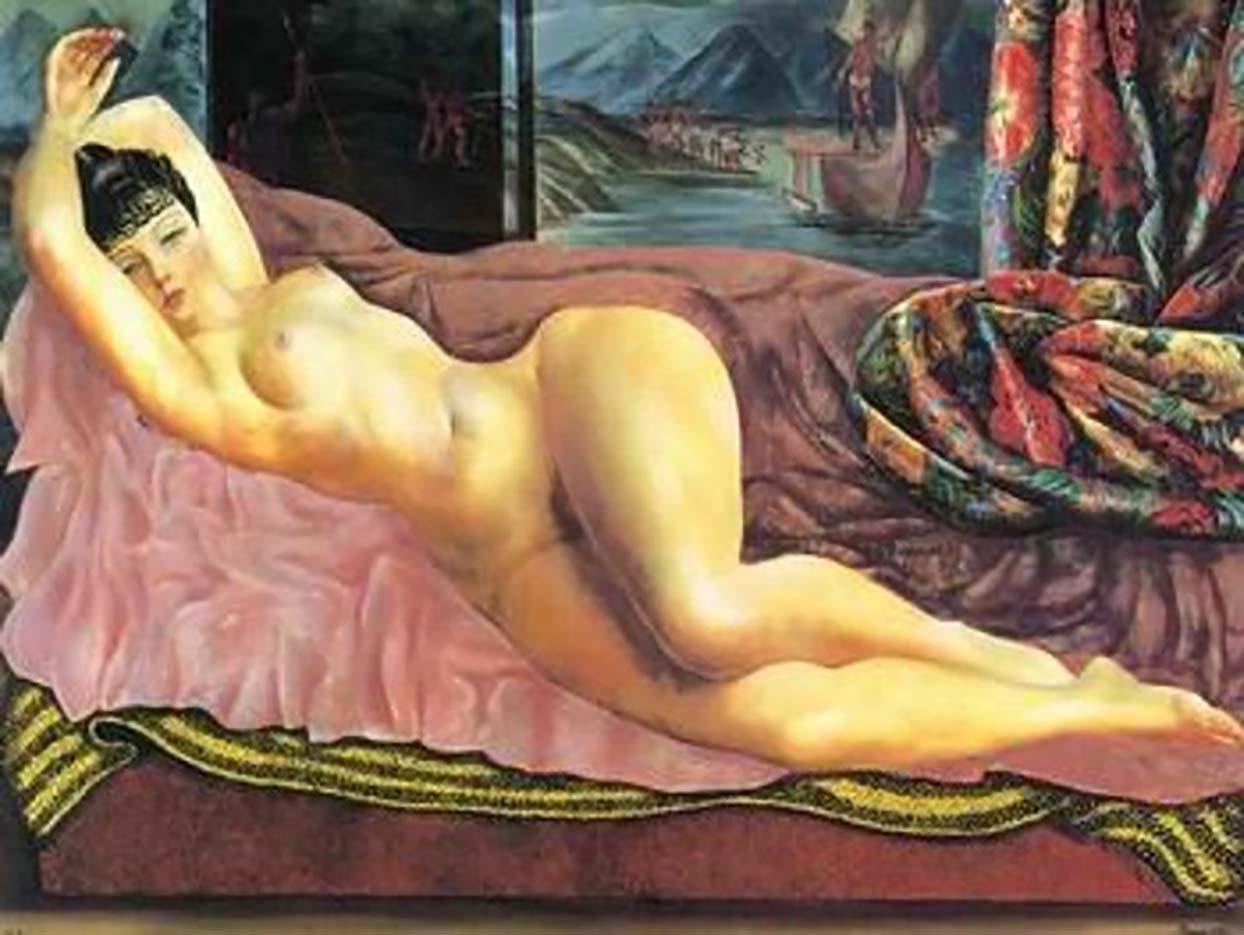 """Моисей Кислинг (Moise Kisling) """"Nude Lady Lying On Sofa"""""""