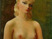 "Моисей Кислинг (Moise Kisling) ""Бюст светловолосой девушки | Bust of blonde girl | Buste de jeune fille blonde"""
