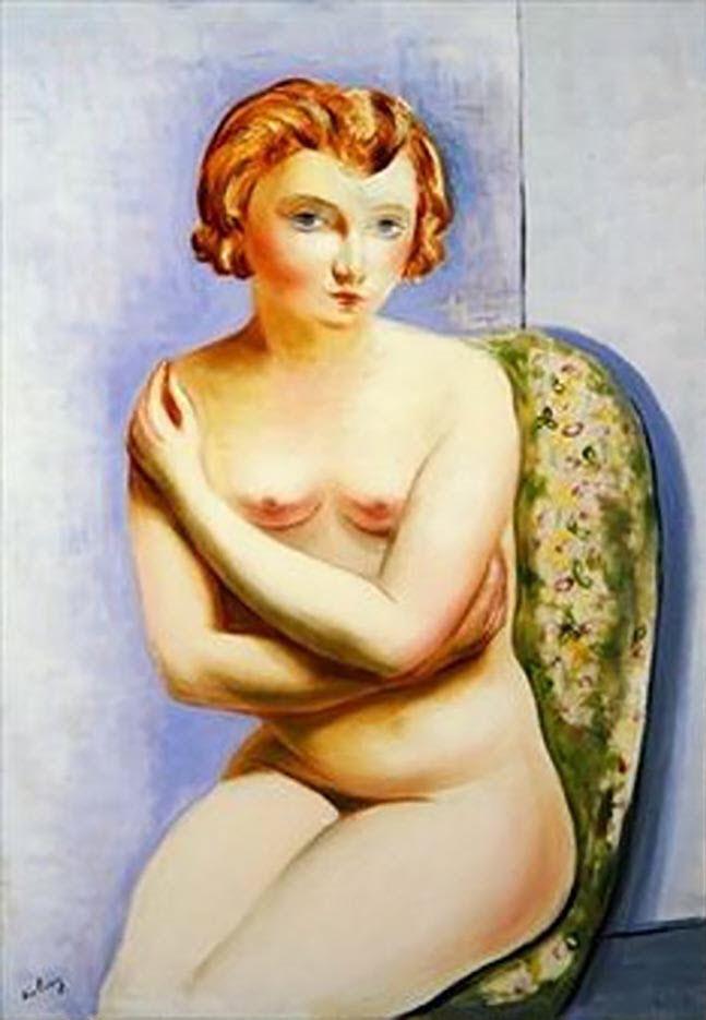 """Моисей Кислинг (Moise Kisling) """"Seated Nude With Crossed Arms"""""""