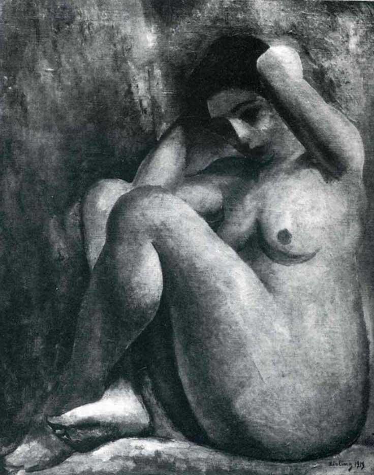"""Моисей Кислинг (Moise Kisling) """"Untitled - 78"""""""
