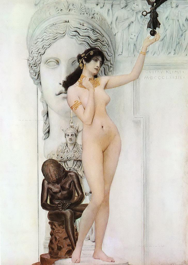 Густав Климт (Gustav Klimt), Аллегория скульптуры