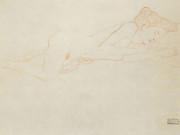 Густав Климт (Gustav Klimt) эскиз, Liegender weiblicher Akt