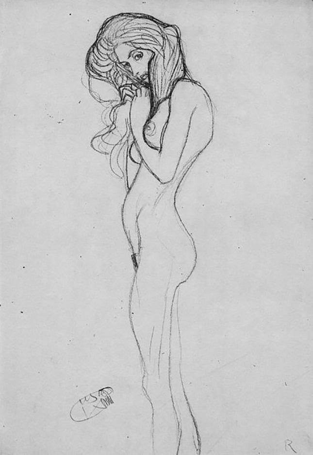 Густав Климт (Gustav Klimt) эскиз, Madchenakt