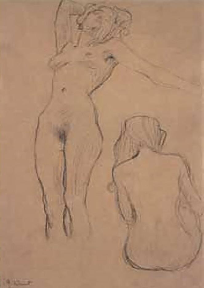 Густав Климт (Gustav Klimt) эскиз, Этюд к панно «Медицина»
