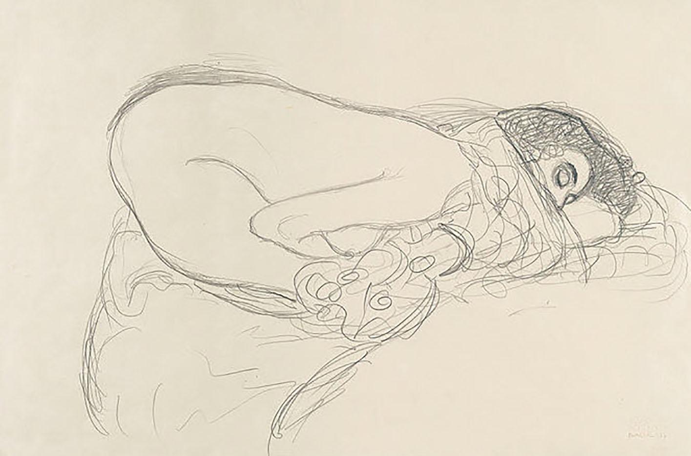 Густав Климт (Gustav Klimt), Эротический эскиз – 26