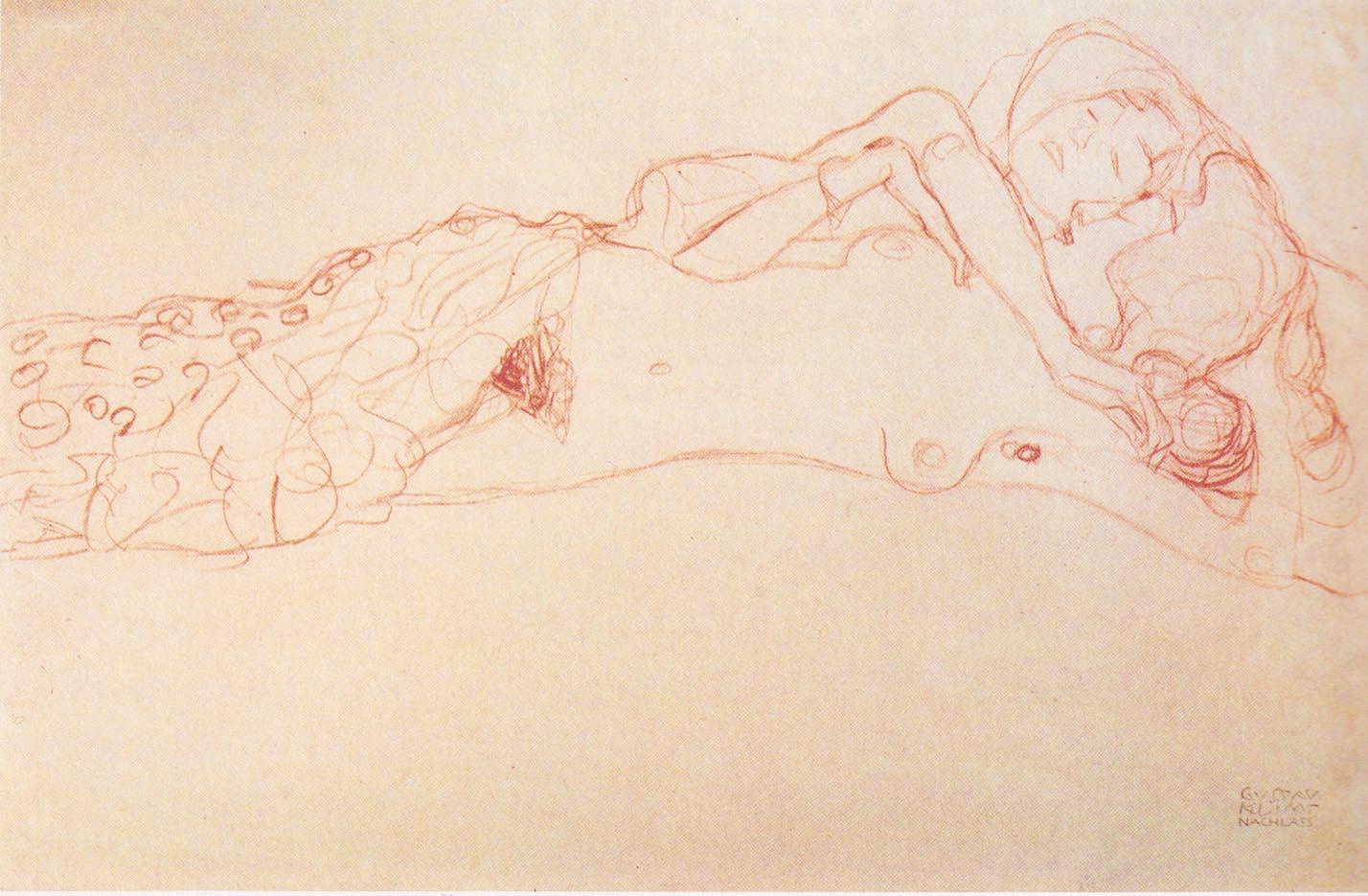 Густав Климт (Gustav Klimt), Эротический эскиз – 27