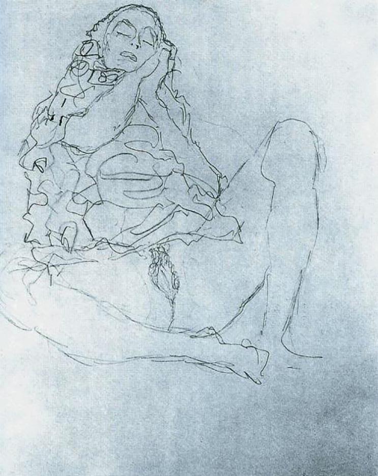 Густав Климт (Gustav Klimt), Эротический эскиз – 28