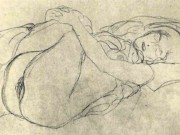 Густав Климт (Gustav Klimt) эскиз, Study for Danae