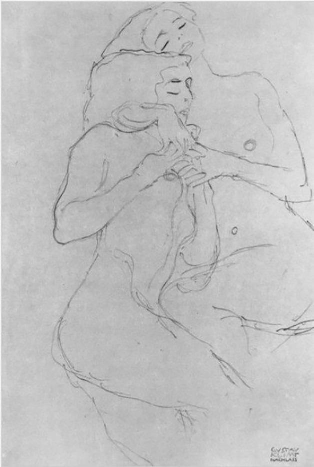 Густав Климт (Gustav Klimt), Эротический эскиз – 32