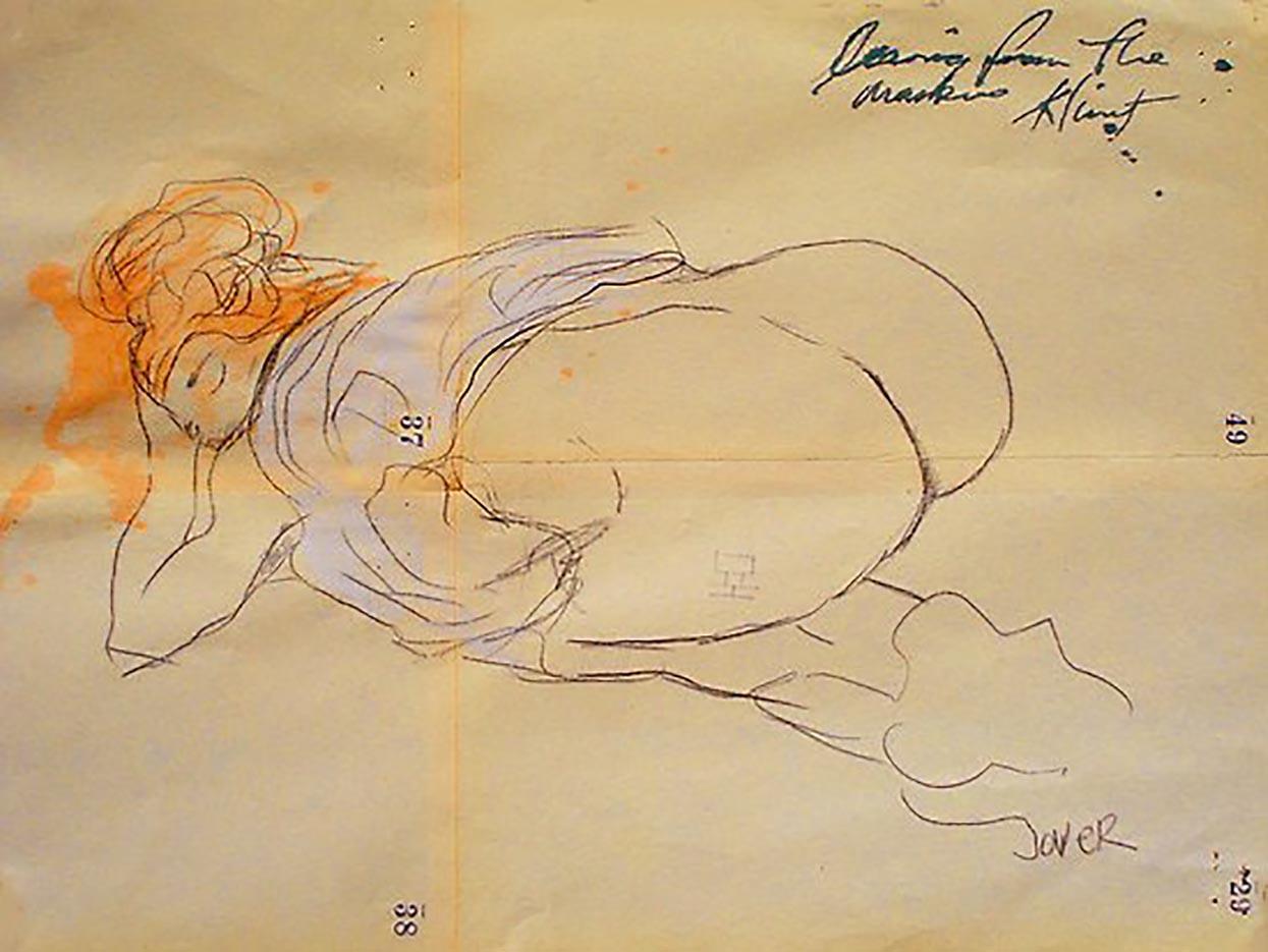 Густав Климт (Gustav Klimt), Эротический эскиз – 33
