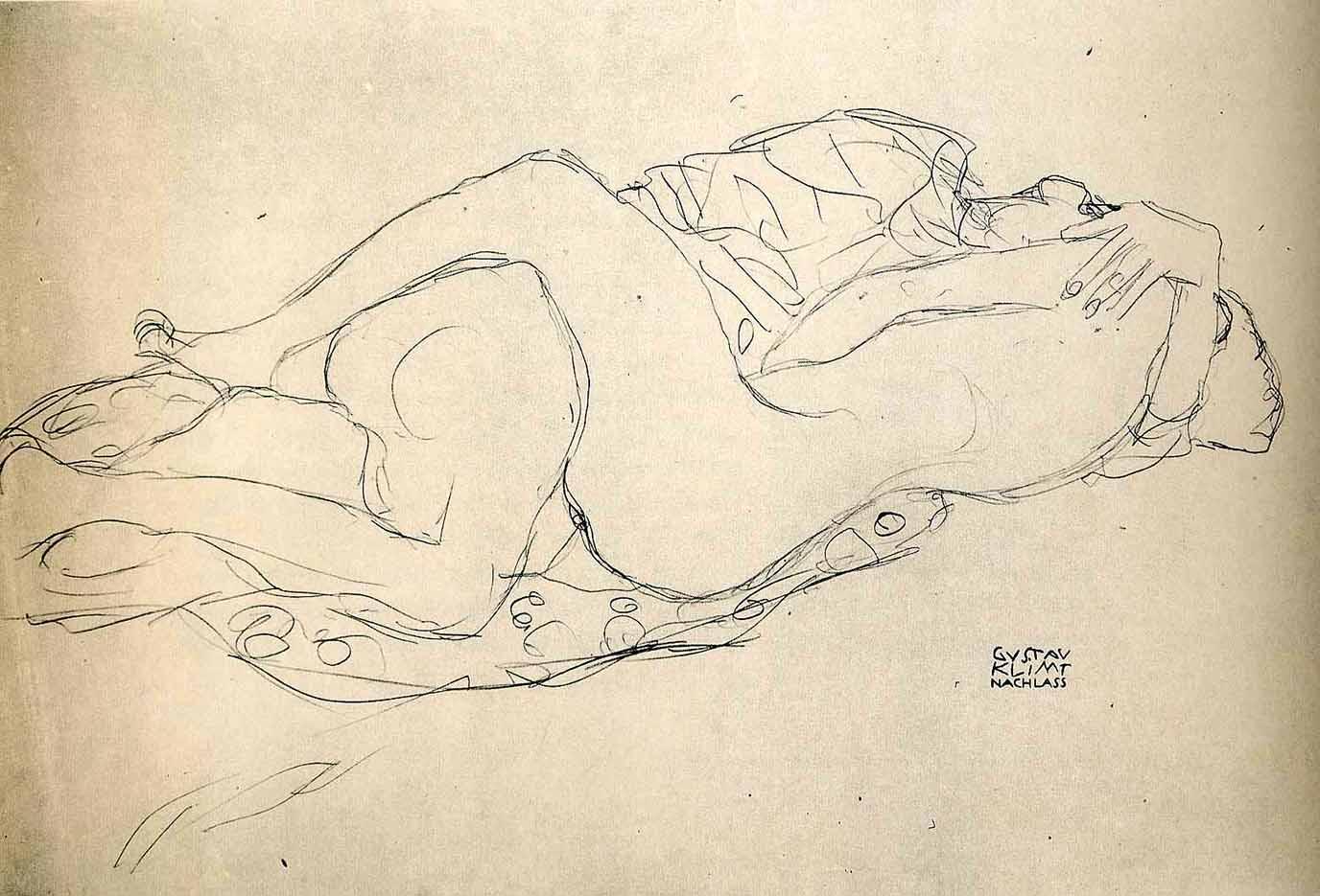 Густав Климт (Gustav Klimt), Эротический эскиз – 34