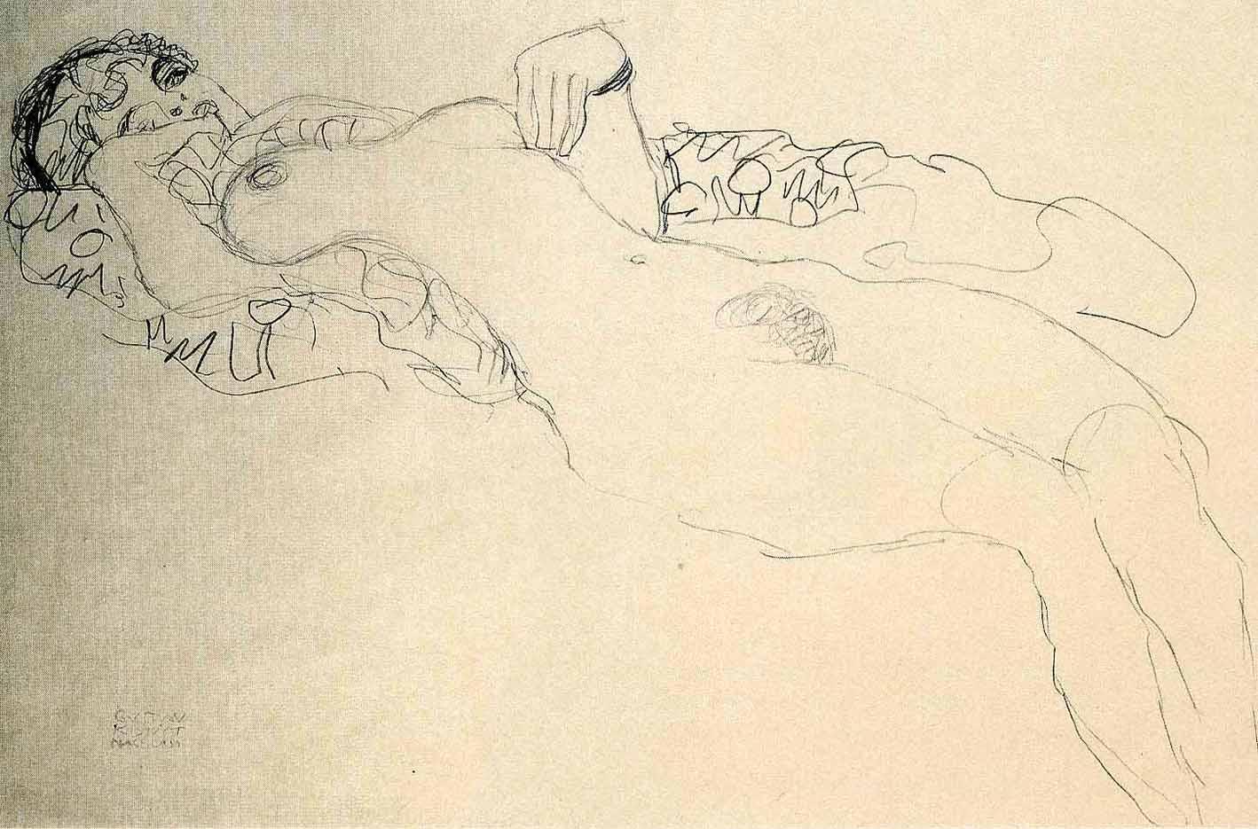 Густав Климт (Gustav Klimt), Эротический эскиз – 35