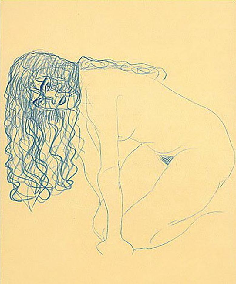 Густав Климт (Gustav Klimt), Эротический эскиз – 36