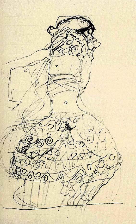 Густав Климт (Gustav Klimt), Эротический эскиз – 38