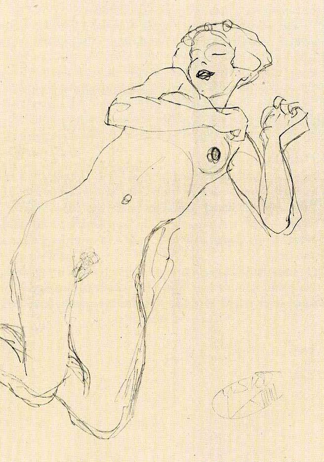 Густав Климт (Gustav Klimt), Эротический эскиз – 39