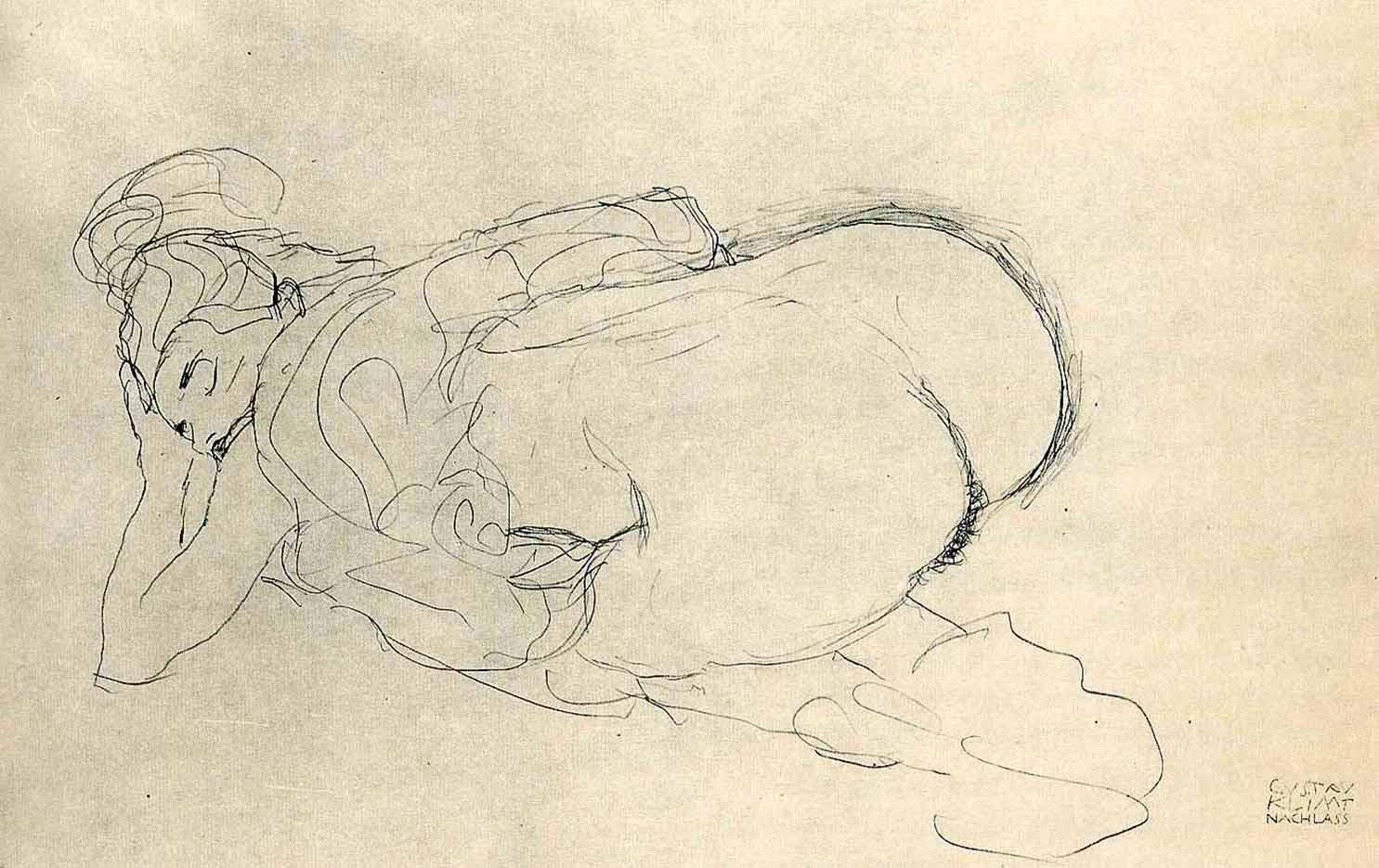 Густав Климт (Gustav Klimt), Эротический эскиз – 40
