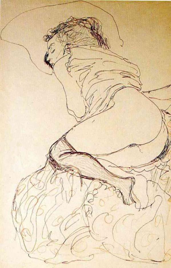 Густав Климт (Gustav Klimt), Эротический эскиз – 42