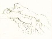 Густав Климт (Gustav Klimt), Эротический эскиз – 44
