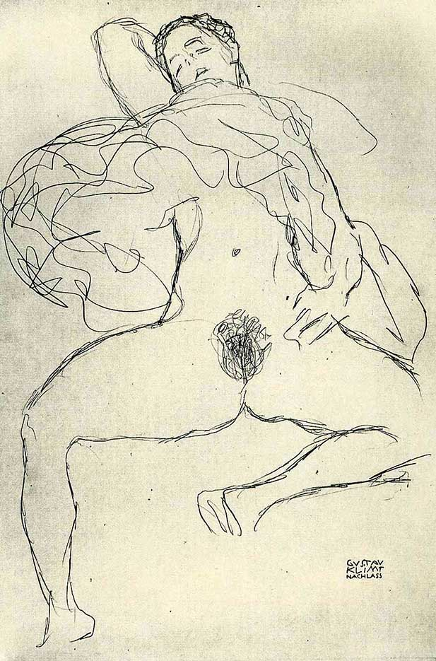 Густав Климт (Gustav Klimt) эскиз, Nude