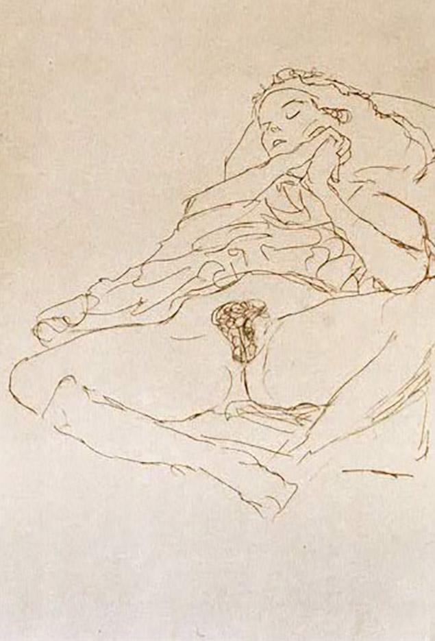 Густав Климт (Gustav Klimt) эскиз, Nude (2)