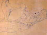 Густав Климт (Gustav Klimt) эскиз, Reclining Female