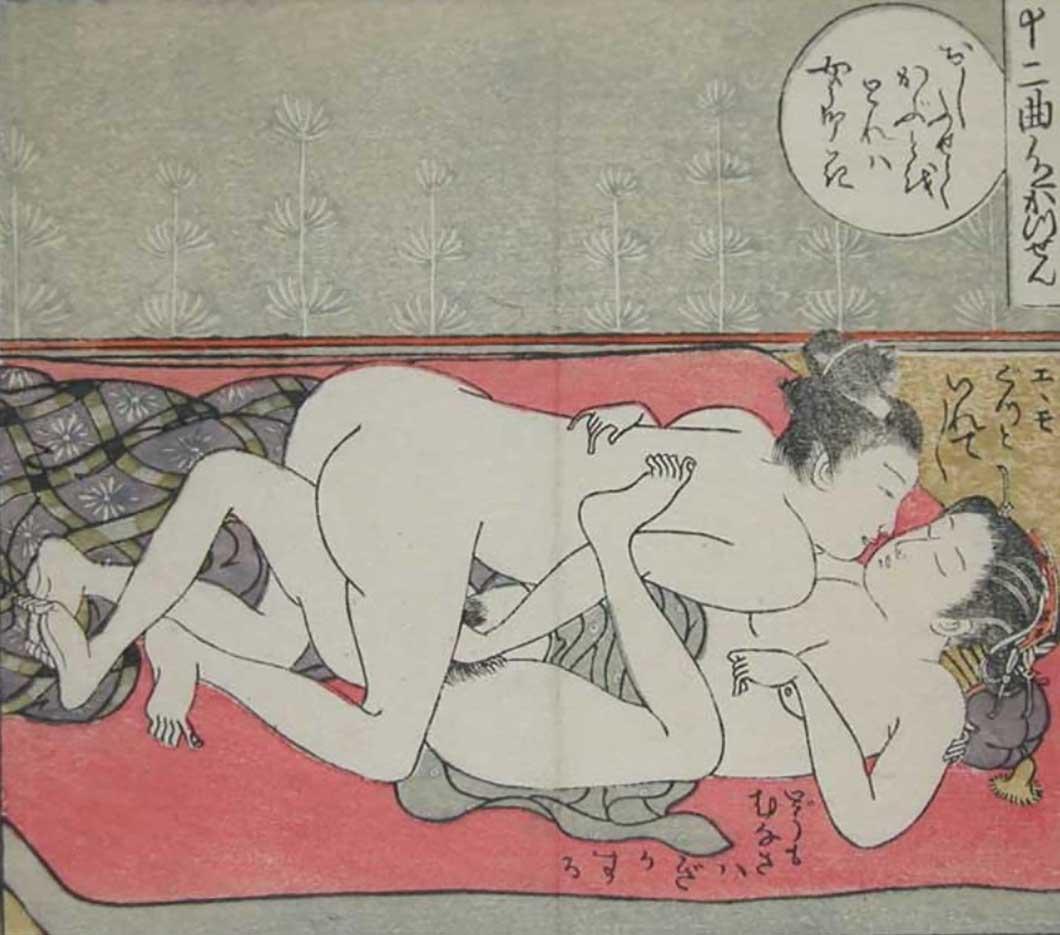 """Исода Корюсай (Isoda Koryusai) """"Young Lovers"""""""