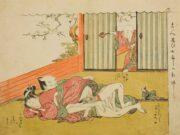 """Исода Корюсай (Isoda Koryusai) """"Lovers Interrupted"""""""