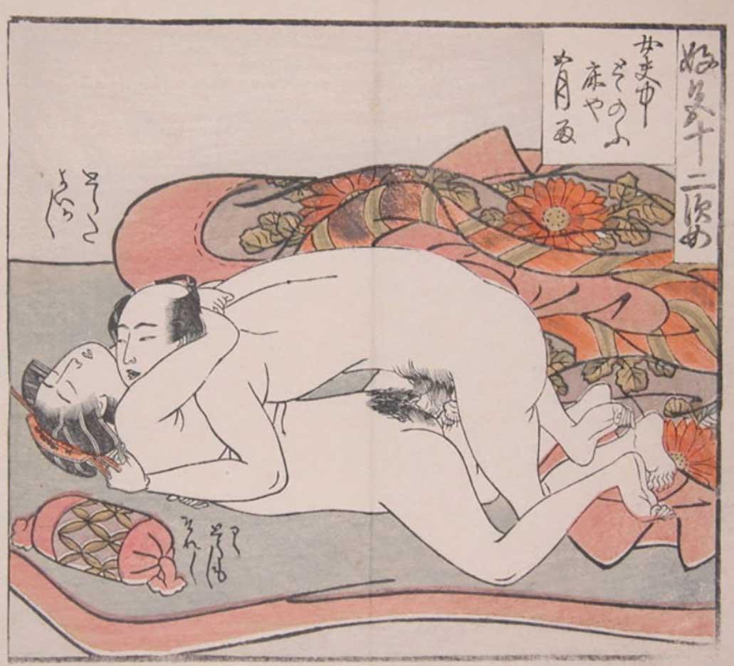 """Исода Корюсай (Isoda Koryusai) """"Two Naked Lovers"""""""