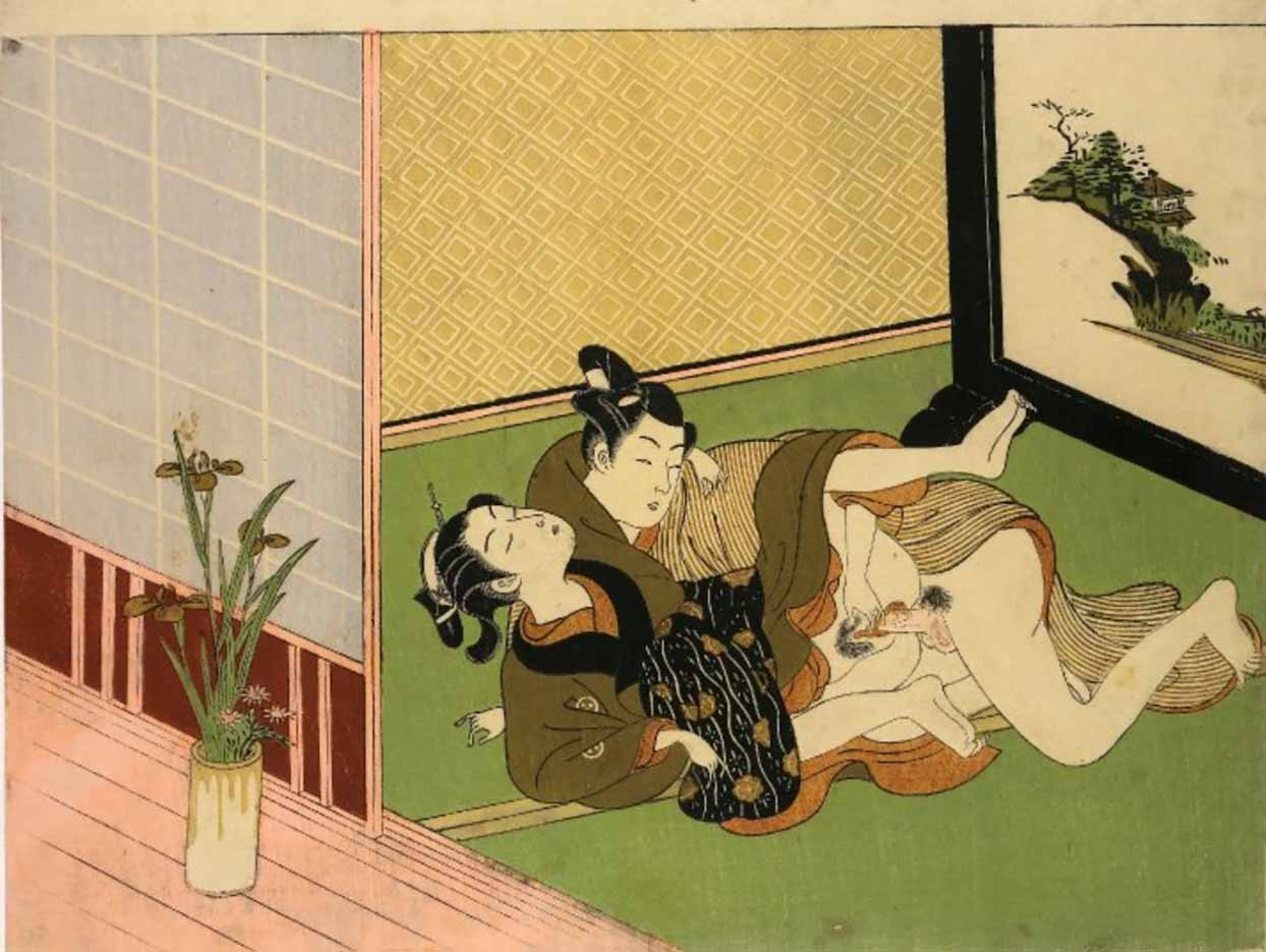 "Исода Корюсай (Isoda Koryusai) ""Shunga - 4"""