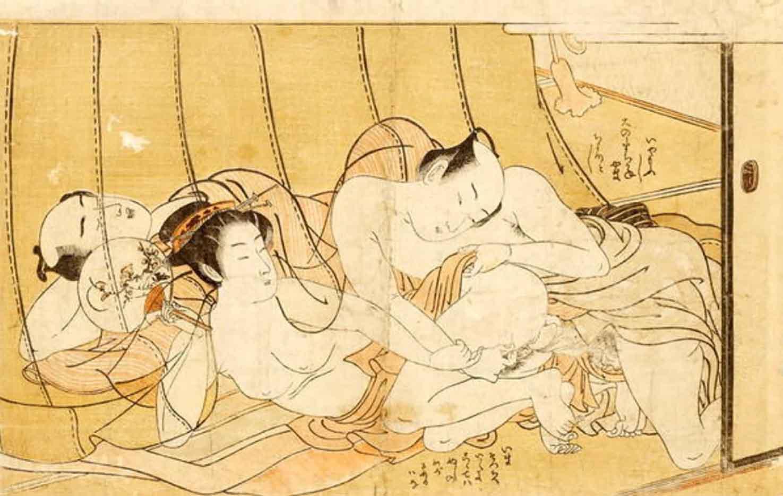 """Исода Корюсай (Isoda Koryusai) """"While the Husband Sleeps"""""""