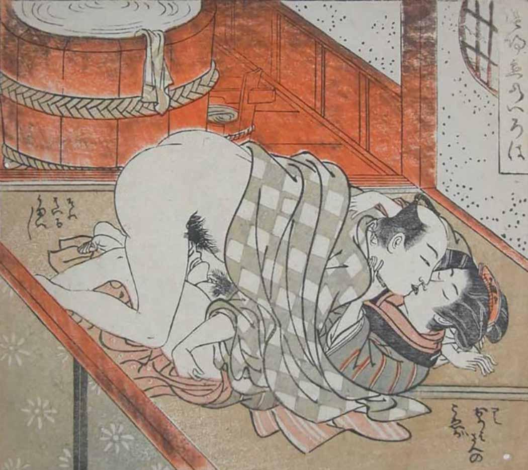 """Исода Корюсай (Isoda Koryusai) """"Fun in the Bath House"""""""