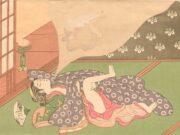 "Исода Корюсай (Isoda Koryusai) ""Bijin dreaming of making love"""
