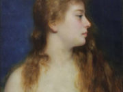 "Франц Ксавьер Кослер (Franz Xaver Kosler) ""Portrait of a Young Beauty"""