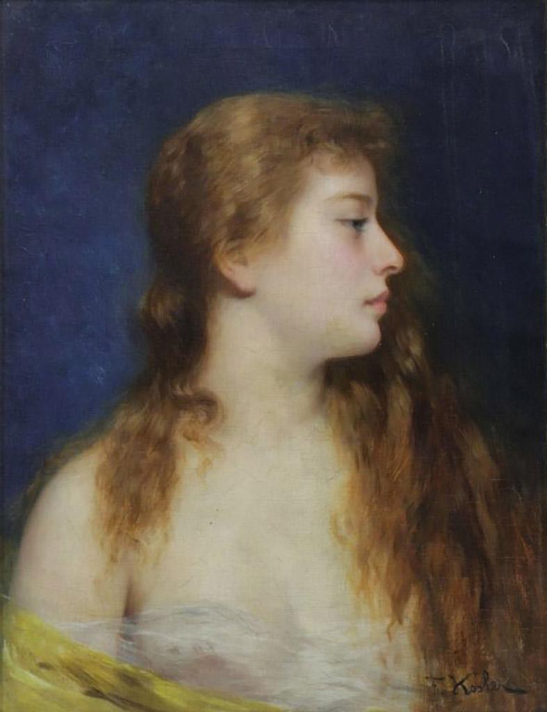 "Франц Ксавьер Кослер (Franz Xaver Kosler) ""Portrait of a Young Beauty"""