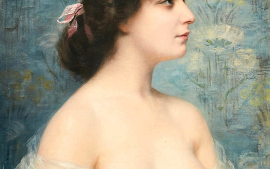 """Франц Ксавьер Кослер (Franz Xaver Kosler) """"Portrait of a young beautiful woman"""""""