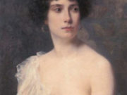 """Франц Ксавьер Кослер (Franz Xaver Kosler) """"Portrait einer jungen Dame"""""""
